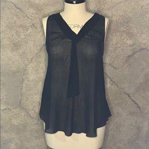 Sheer black blouse